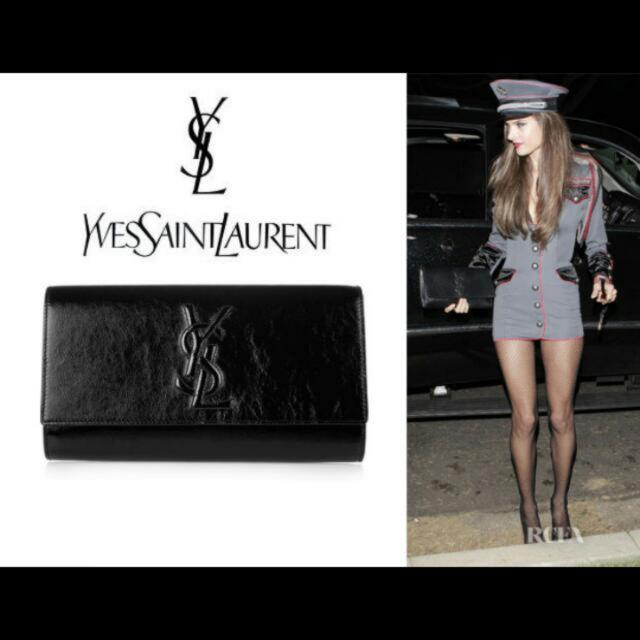exceptional range of colors shoes for cheap best place for AUTHENTIC> YSL Belle De Jour Clutch In Black Patent Leather ...