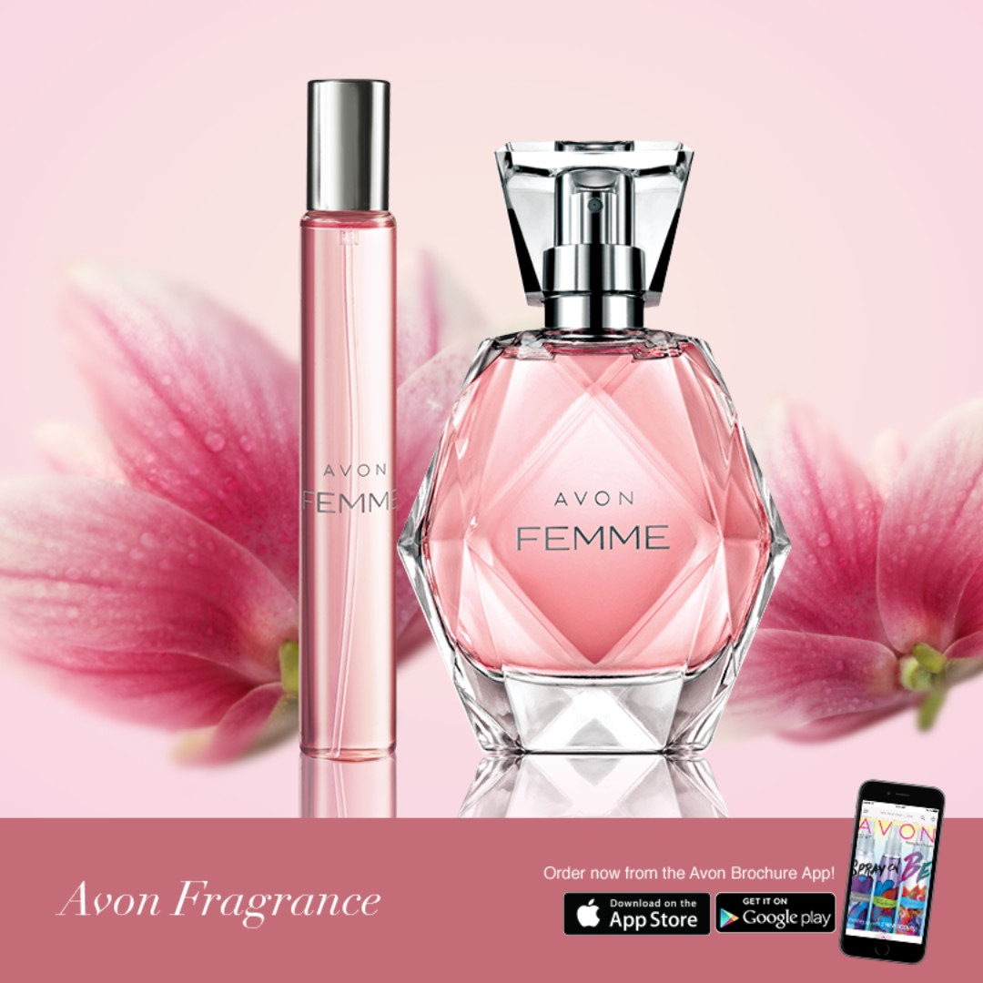 AVON Femme Eau De Parfum (P500) and Purse Spray (P150)