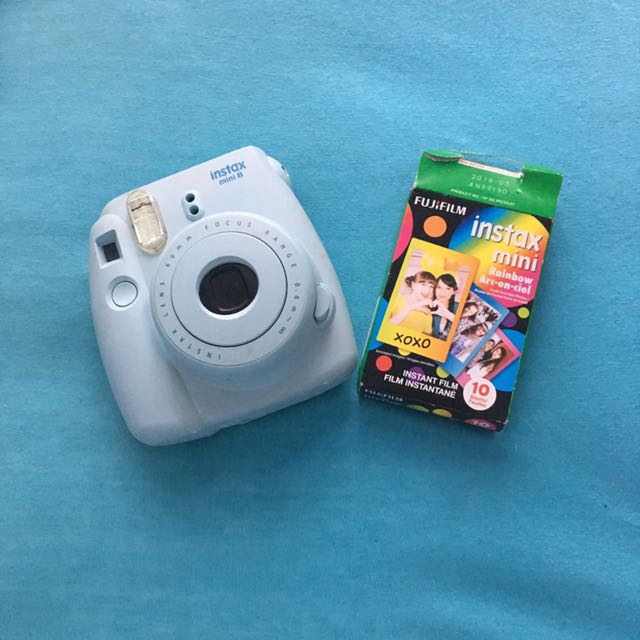 Baby Blue Instax Mini And Rainbow Film