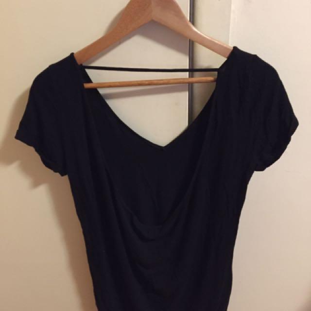 Backless black dress/top