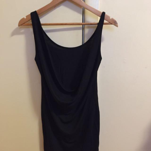 Backless Black Tight Fitting Dress