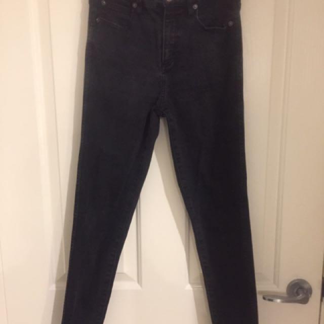 Bardot Size 10 High Waisted Skinny Jeans