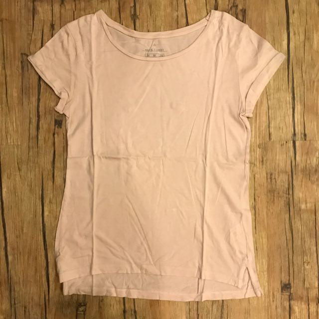 Basic T Shirt Pink Stradi