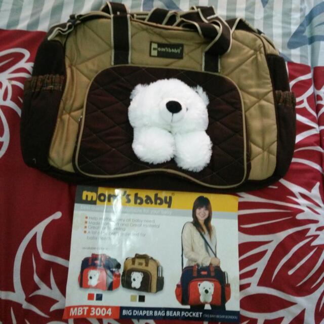 TURUN HARGA LAGI: Big Diaper Bag Bear Pocket MOM's BABY