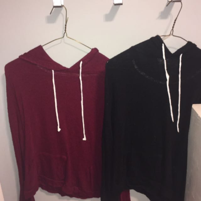 Black And Burgundy Sweatshirt(s)