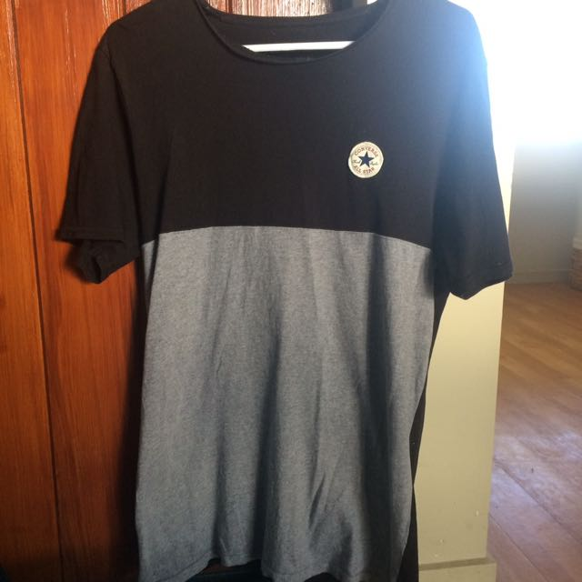 Black And Grey Converse All Star T-Shirt