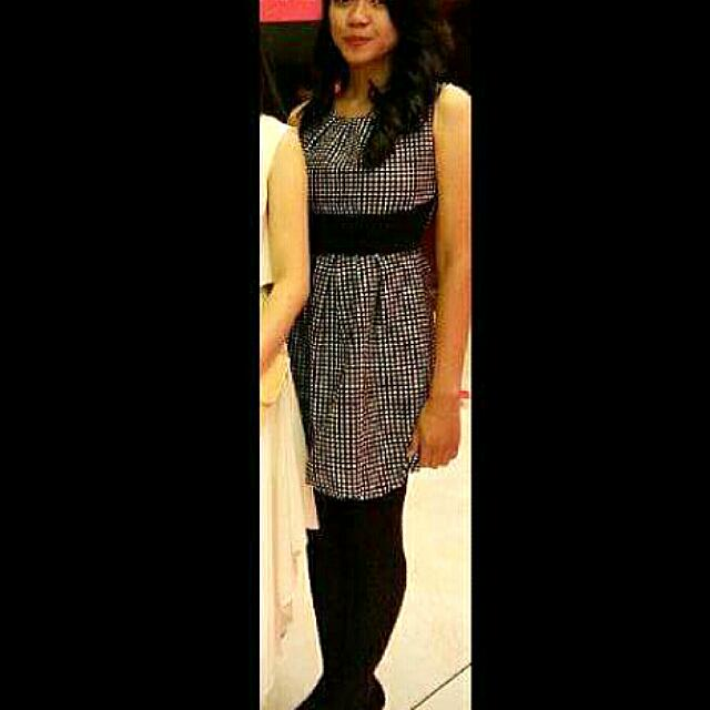 Black Dress Polkadot