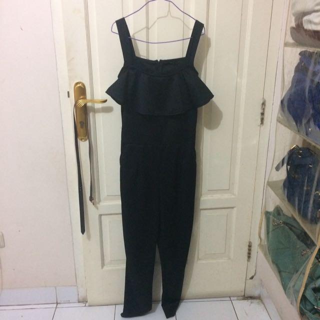 Black Flare Jumpsuit
