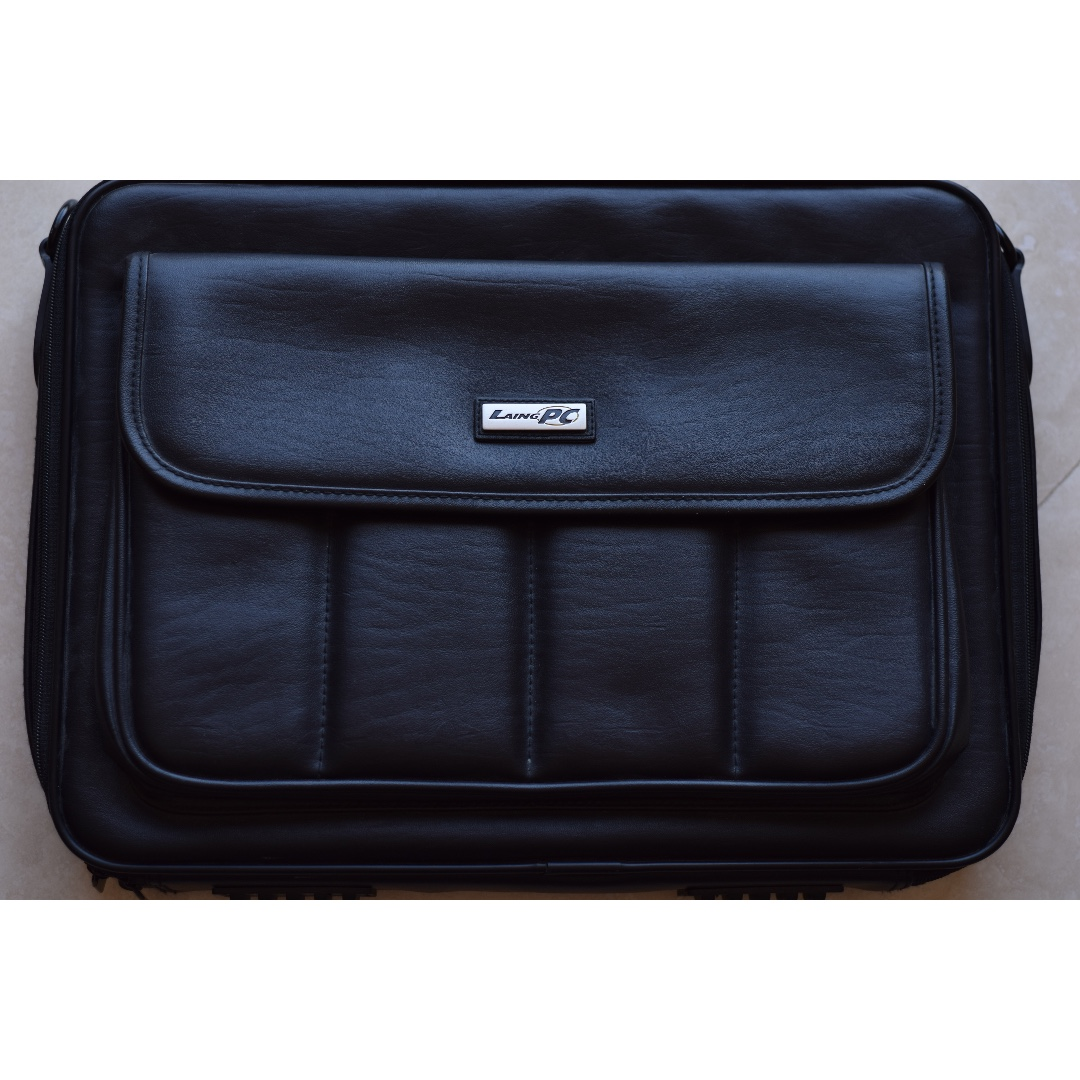 """BLACK LAPTOP PC BAG for 15"""" laptops and smaller"""
