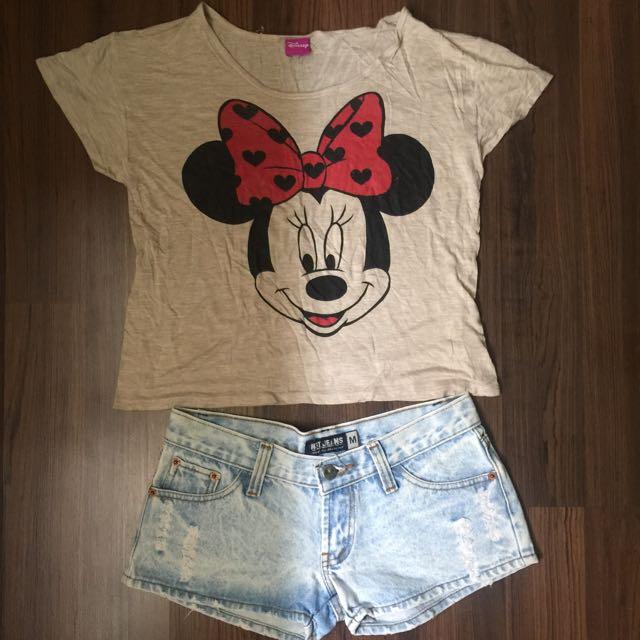 Blouse (Disney) & Shorts