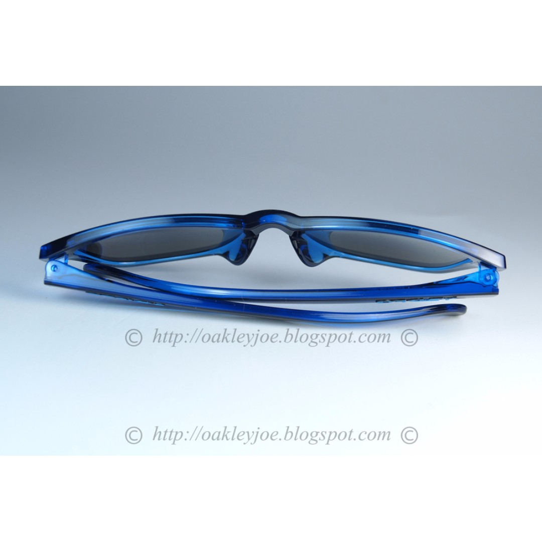 ... brand new oakley frogskins asian fit eclipse blue sapphire iridium  oo9245 4854 mens fashion accessories on