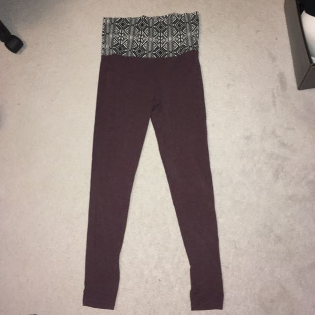 Burgundy Yoga Leggings