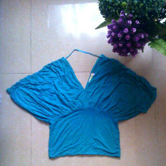 Butterfly Turquoise/Teal Top