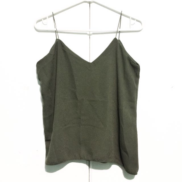 Cami Top - Olive Green