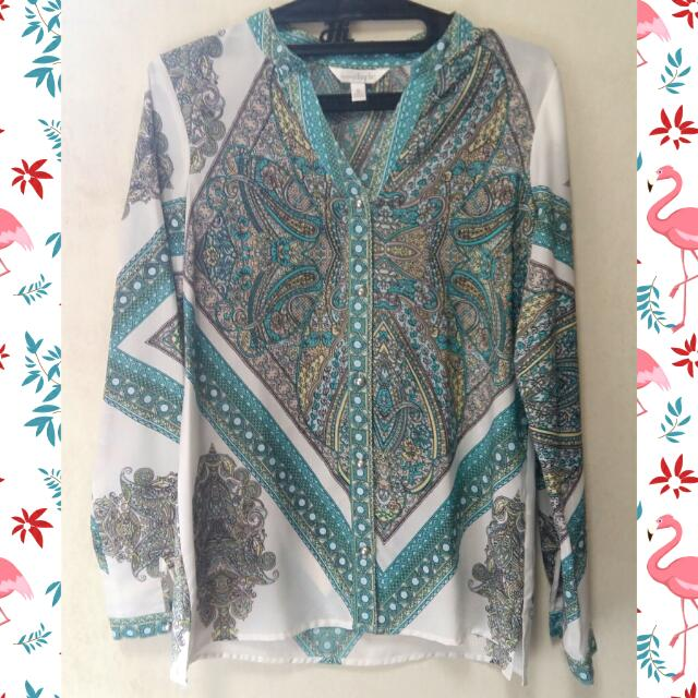 Charming Charlie Ethnic Blouse