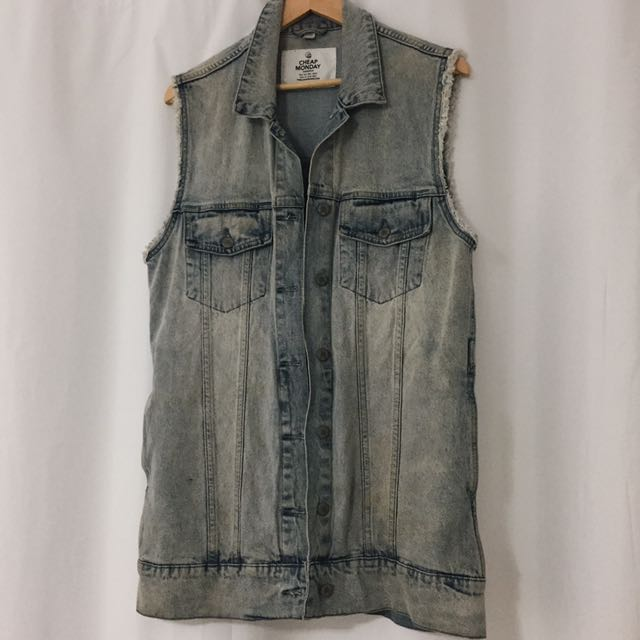 CHEAP MONDAY Denim Vest