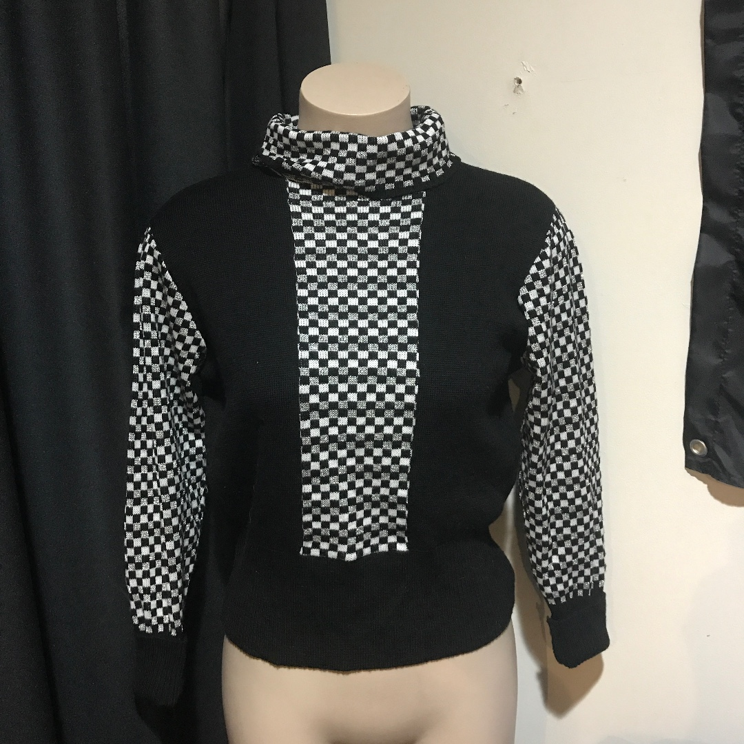 checkboard sweater