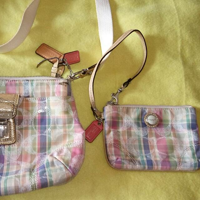 Coach Sling And Wristlet One Set