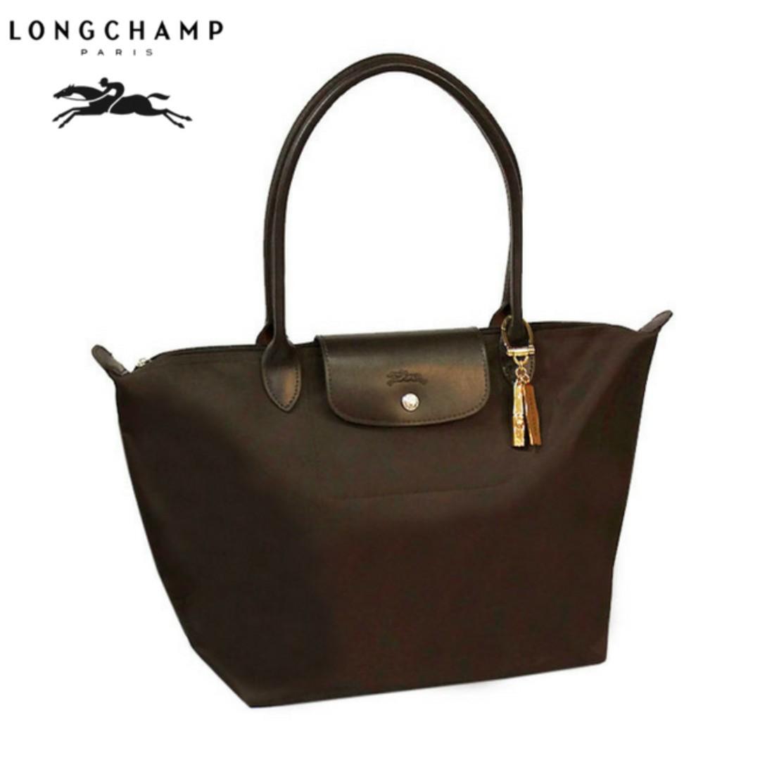 ec8d58ba4a DAS LC003) Authentic Longchamp Coated Nylon Planetes Large Long ...