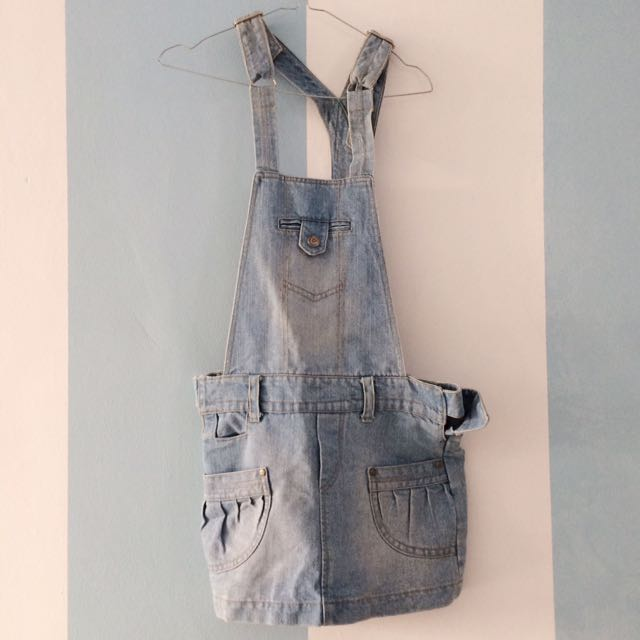 Denim Dress with Dungaree Style