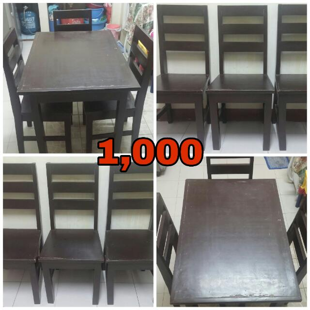 Dining Table Set (3 Seater)