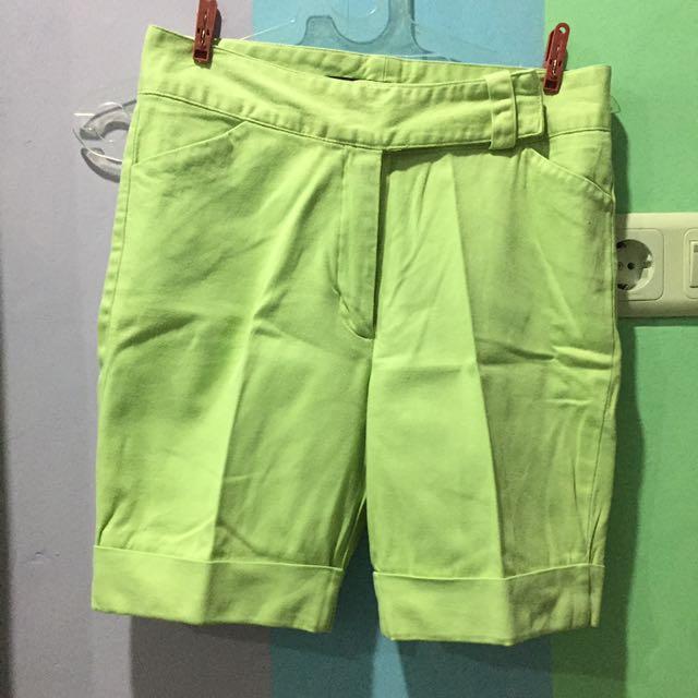 DKNY Light Green Shorts