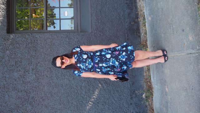 eShakti Size 14 Floral Party Dress