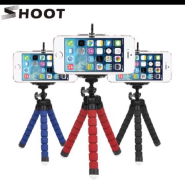 on sale 8c593 4ef6e Flexible Octopus Tripod For Phone With Phone Clip Tripod for iPhone 6 7 6s  5s Dslr Gopro Yi 4K SJCAM Camera Stand Mount