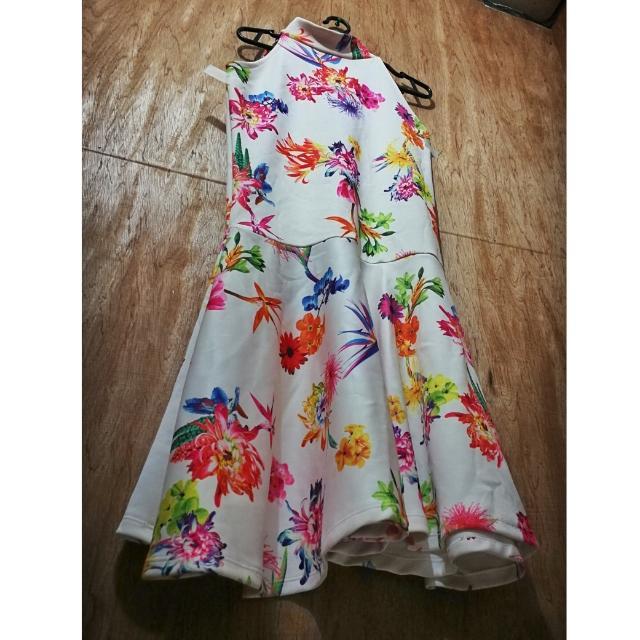 Floral Turtleneck Dress
