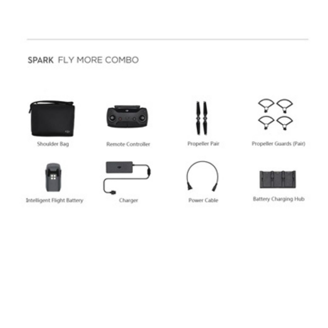fly more combo kit for dji spark without drone   electronics  others on carousell