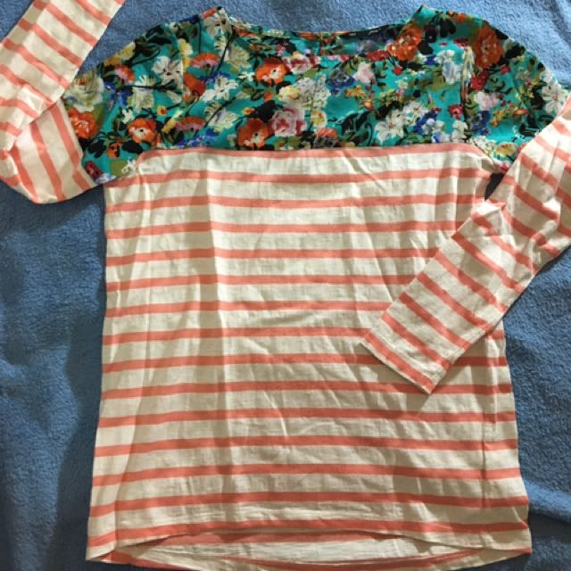 For Her Floral Long Sleeves Top