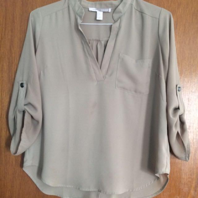 FOREVER 21 Tan Shirt