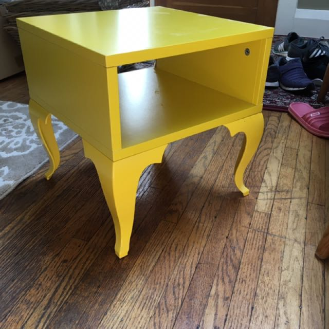 Funky Yellow Side Table