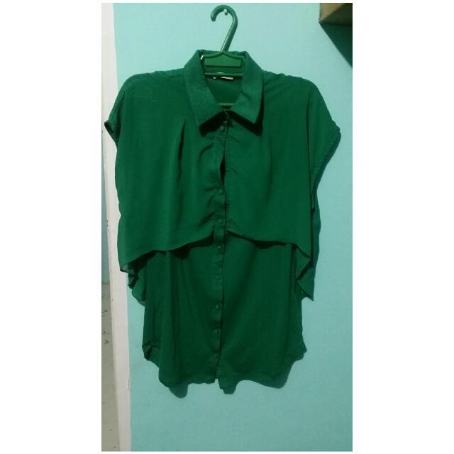 Green Long Blouse