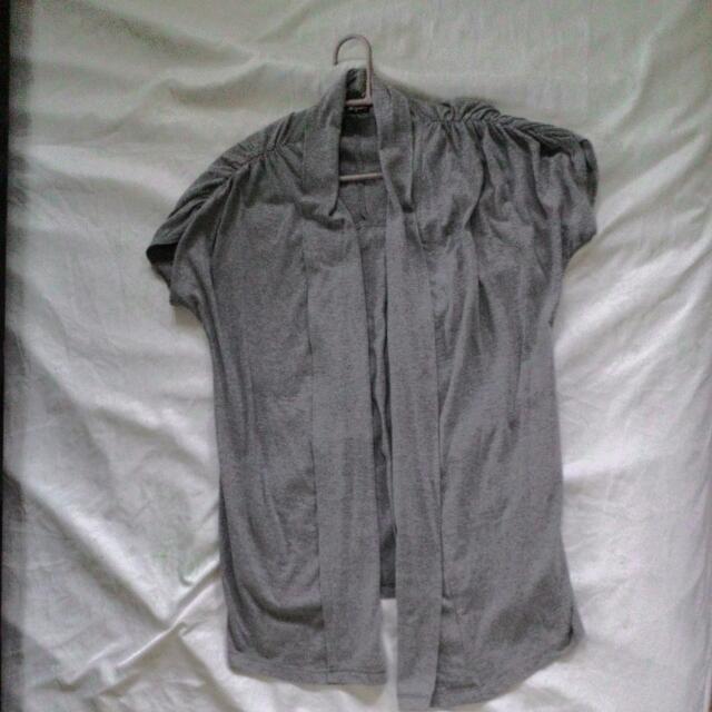 Grey Long Cotton Shoulder Cover Off