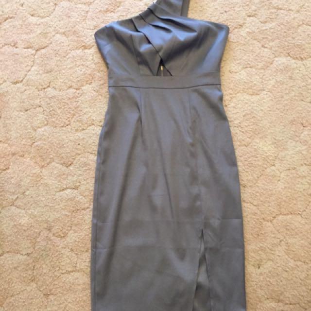 Grey One Shoulder Dress