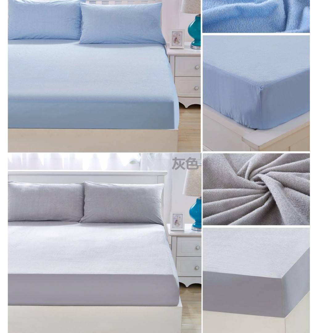 protector fitted extra double protect cotton waterproof terry mattress
