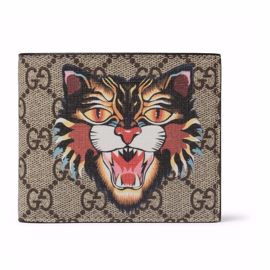 ceb1883404f2 GUCCI Angry Cat Printed Coated-Canvas And Leather Billfold Wallet, Men's  Fashion, Bags & Wallets on Carousell
