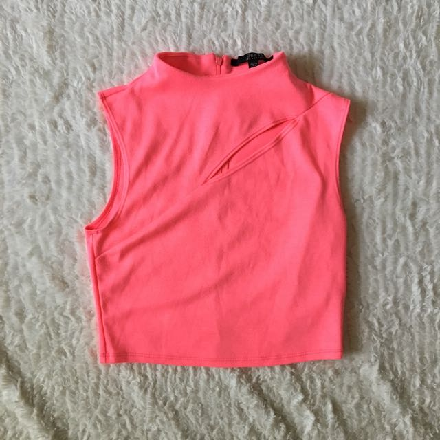 Guess Cropped Pink Top