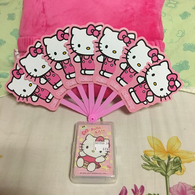Hello kitty扇子