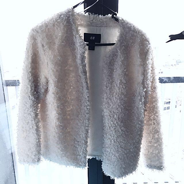 H&M Fluffy Shearling Jacket