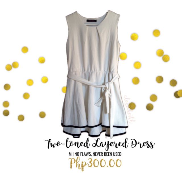 HQ Two-Toned Layered Dress