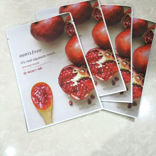 🍎Innisfree Pomegranate Real Squeeze Mask🍎