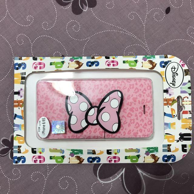 米妮粉色豹紋iPhone 6/6s 手機殼 #七月免購物直接送