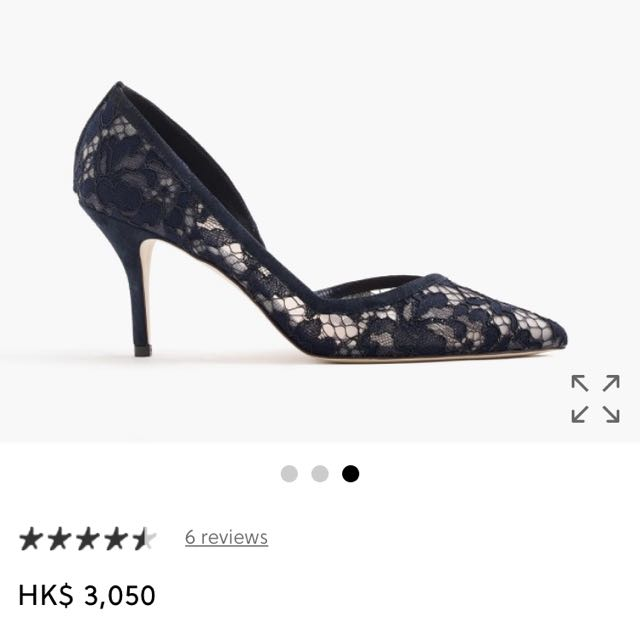 J.crew Made in Italy d'Orsay pumps in lace high heels