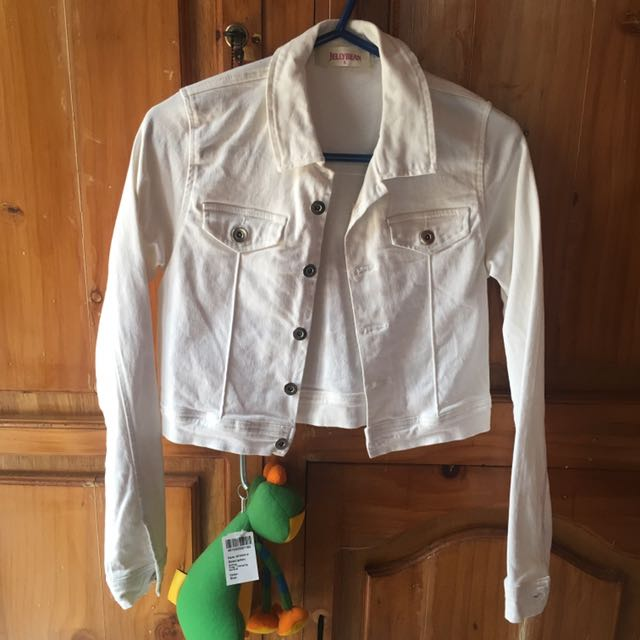 Jellybean White Denim Jacket