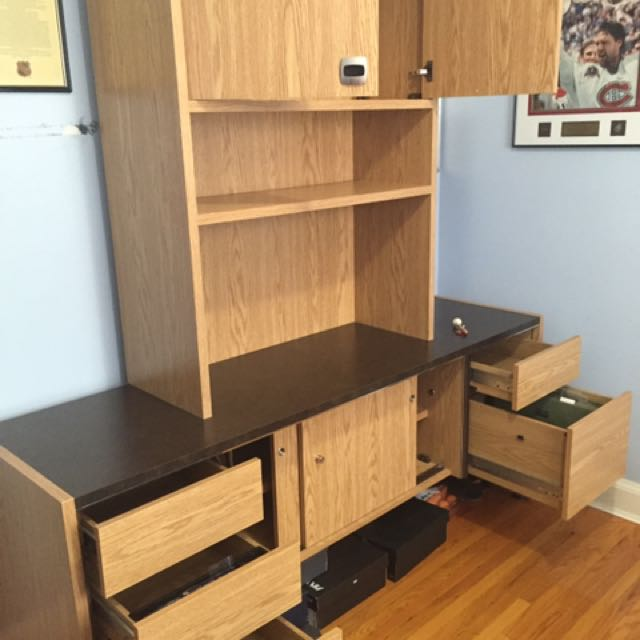 Large Desk With Storage And File Drawers