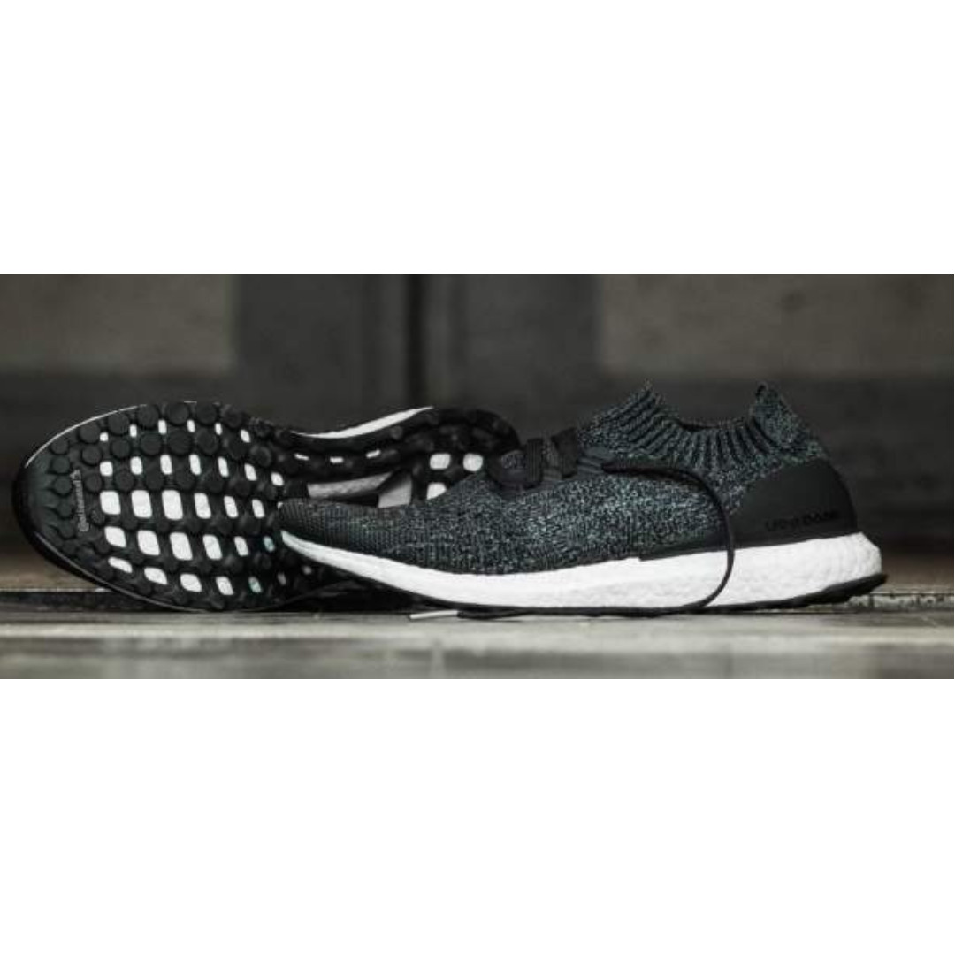 5d18978cc LATEST  Adidas Ultra Boost Uncaged Black Grey  3D printed heel cup ...