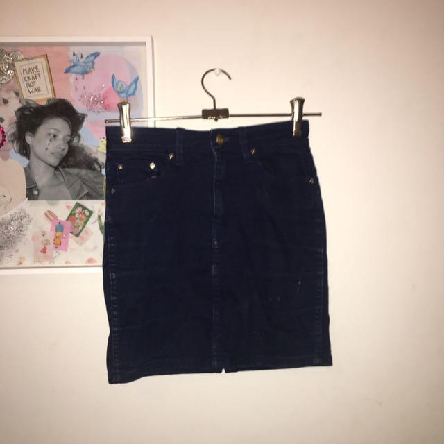 Lee Denim Mini Skirt