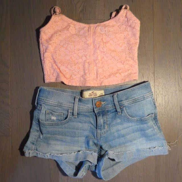 Light Wash Denim Shorts By Hollister
